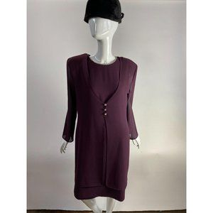Plum 2pc Dress and Jacket by After Dark